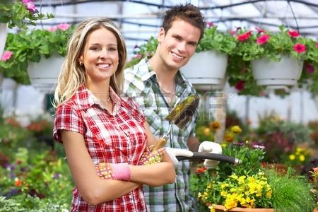 florist people in the garden
